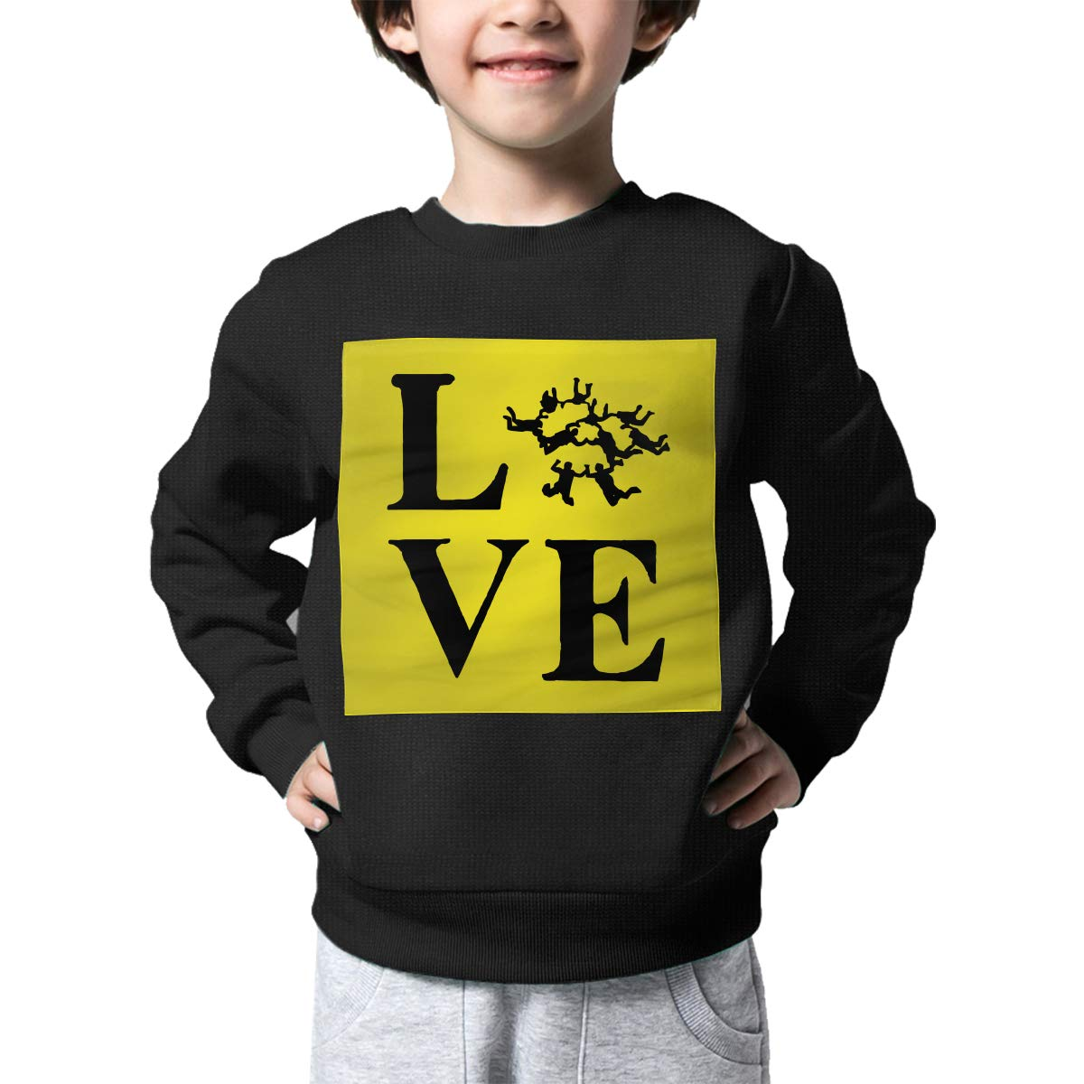 Childrens Love Skydiving Sweater Kids Printed Sweater