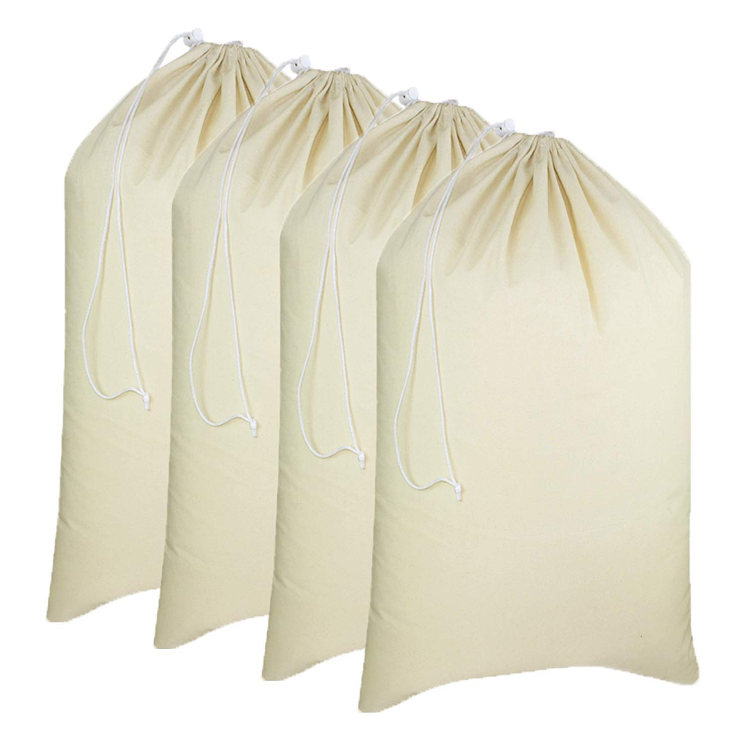Simpli-Magic 79164 Canvas Laundry Bags, 28'' x 36'', Natural, 4 Pack