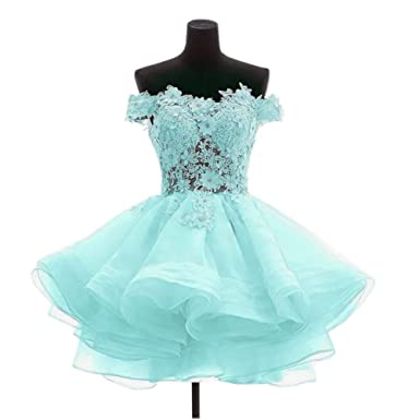 Uryouthstyle Off Shoulder 8th Grade Prom Dresses 2016 Short Ball Gowns at Amazon Womens Clothing store: