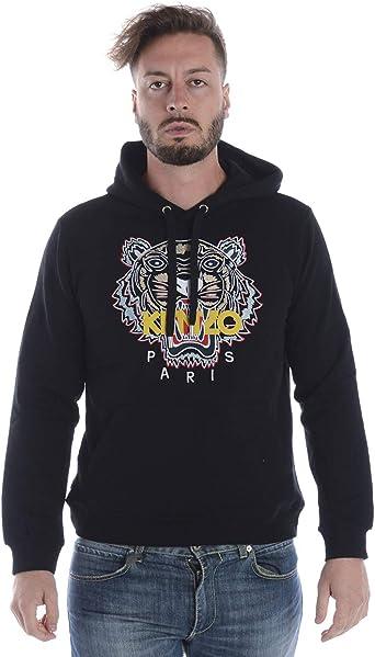 Kenzo Hommes Logos Classique Tigre Noir Pull à Capuche | eBay
