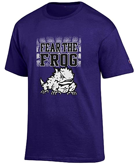 38aa05af5d943a Gear for Sports TCU Horned Frogs Purple Champion Fear The Frog T Shirt  (Large)