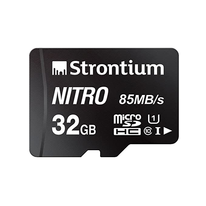 Strontium Nitro 32GB Micro SDHC Memory Card 85MB/s UHS-I U1 Class 10 High Speed for Smartphones Tablets Drones Action Cams (SRN32GTFU1QR) Micro SD Cards at amazon