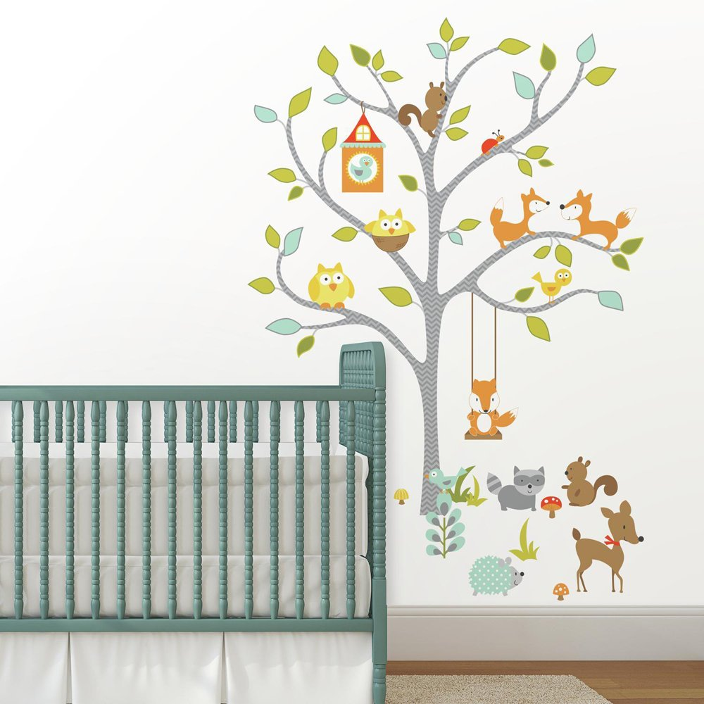 RoomMates Woodland Fox & Friends Tree Peel And Stick Wall Decals by RoomMates (Image #2)