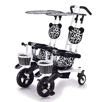 CHEERALL Cochecito de bebé Doble Triciclo de Dos Ruedas Ligero para ...