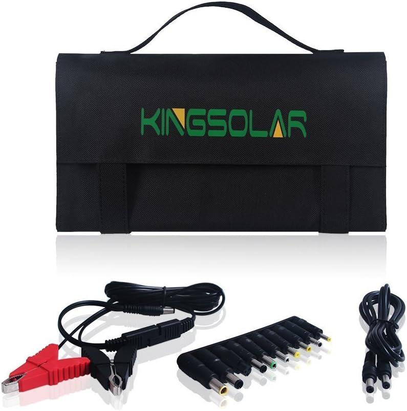 KINGSOLAR 60W Solar Ladeger/ät High Efficiency 2-Port Beweglicher Faltbarer Ladeger/ät Panel Charger f/ür iPhone Samsung und Andere Digitale Ger/äte iPad