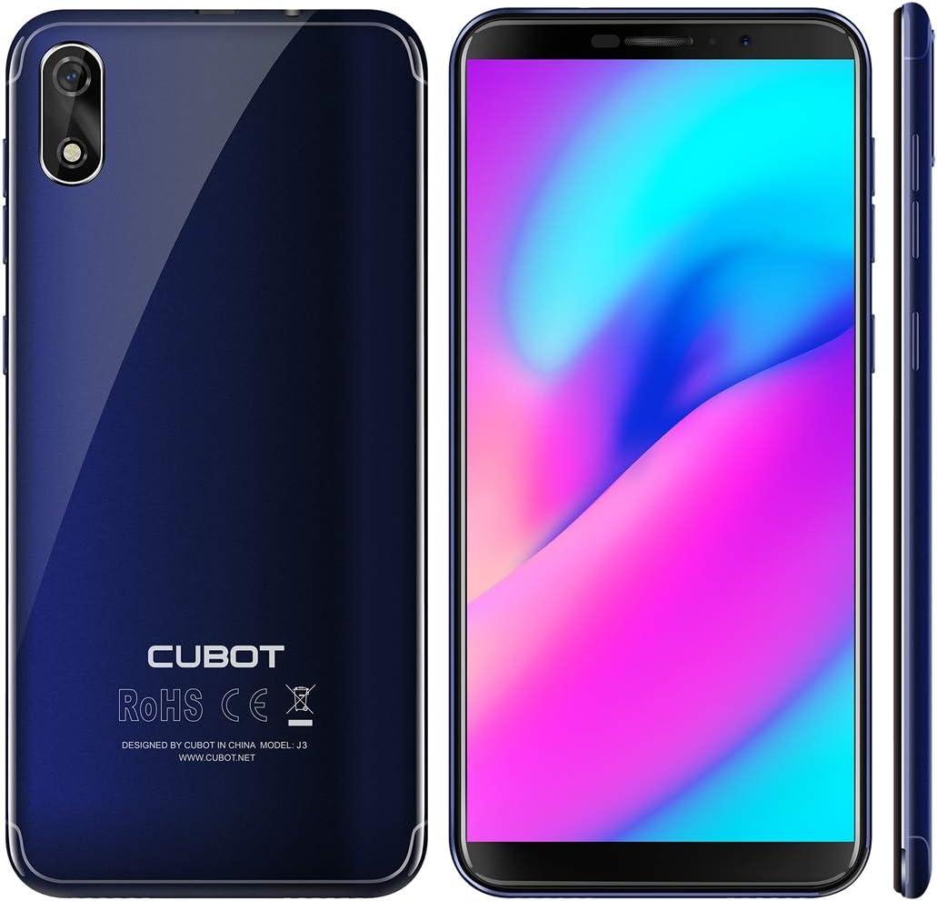Cubot J3 Dual SIM Smartphone (12,63 cm (5 Pulgadas) Pantalla Full Wide VGA TN Touch, 1GB RAM, 16 GB ROM, Android 8.1 ...