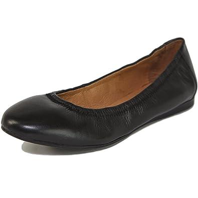 983828503a5 alpine swiss Womens Vera Ballet Flats European Made Leather Shoes Black 5 M  US