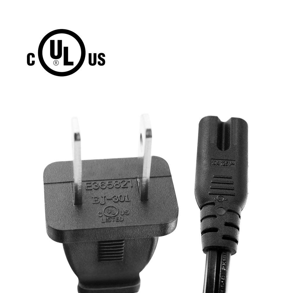 Compatible with Echo Link amp Power Supply Adapter UL Listed IBERLS AC Cable 2 Prong Plug Charger Cord Replacement Echo Sub Powerful Subwoofer Charging Cable
