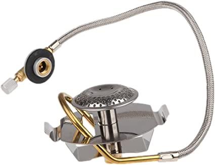 Stainless Steel Gas Stove Mini Outdoor Camping Burner with Preheating Device .