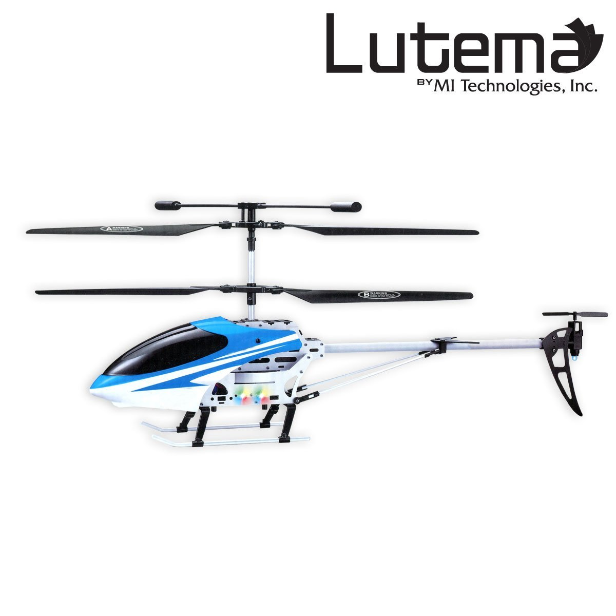 Lutema Mid Sized 35ch Remote Control Helicopter Blue Rc Parts Diagram Together With Quad Rotor Wiring Toys Games