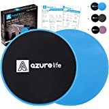 A AZURELIFE Exercise Core Sliders, 2 Pack Dual Sided Exercise Gliding Discs Use on All Surfaces, Light and Portable…