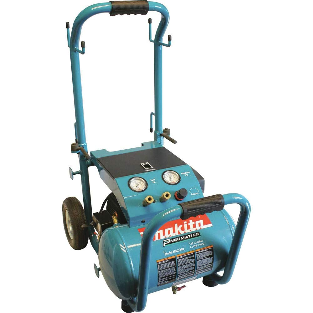 Makita MAC5200-R 3.0 HP 5.2 Gallon Oil-Lube Wheeled Dolly-Style Air Compressor (Certified Refurbished)