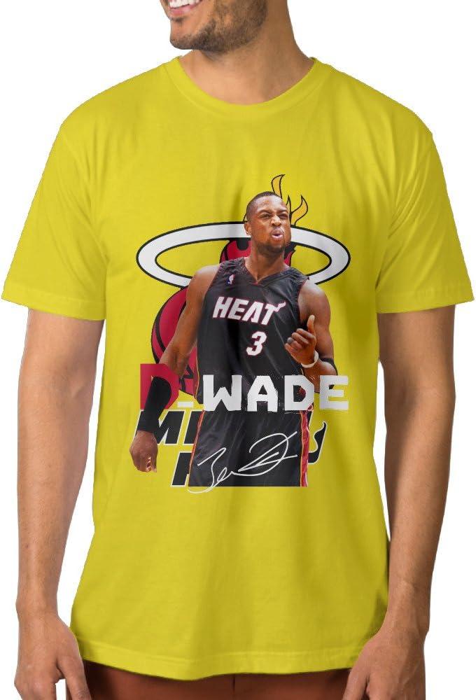PTCY Men T ptcym Dwyane Tyrone Wade Miami Heat Personalizado Camiseta de Hombre Azul Eléctrico
