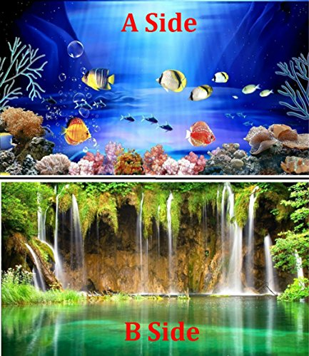 Brown Sugar PVC Double Sided Aquarium Fish Tank Poster Background Decoration Aquarium Ocean Decorative Wall Background Poster (16'' x 24'') by Brown Sugar