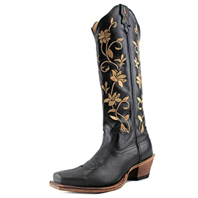 4582958e652 Twisted X Women's Steppin' Out Floral Embroidered Cowgirl Boot Square Toe -  Wsot002