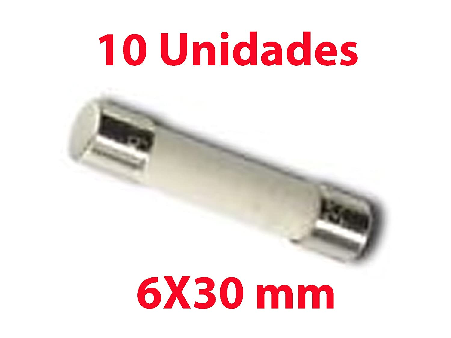 10X FUSIBLE de Cer/ámica 6X30 mm 8A 250V