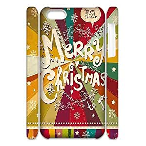 Custom New Case for Iphone 5C 3D, Merry Christmas Phone Case - HL-711696