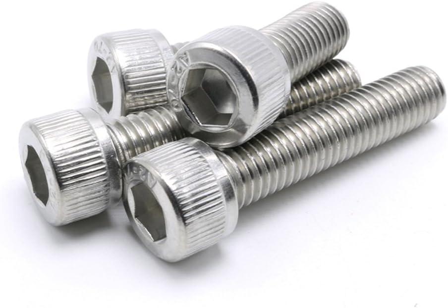 "#0-80 Unc Hex Socket Head Cap Screws,Stainless Steel,Full Thread,Knuled Head,100 Pieces (#0-80 X 1/4"")"