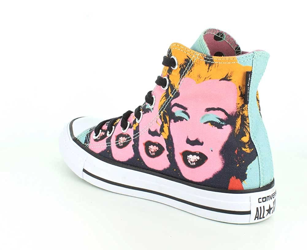 e7536079085 Converse Unisex Chuck Taylor All Star Andy Warhol Marilyn Monroe High Top  Lichen Orchid Smoke White Sneaker - 4 Men - 6 Women  Buy Online at Low  Prices in ...