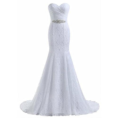 Beautyprom Vestidos de Boda del cordón de la Sirena de Novia de la Mujer