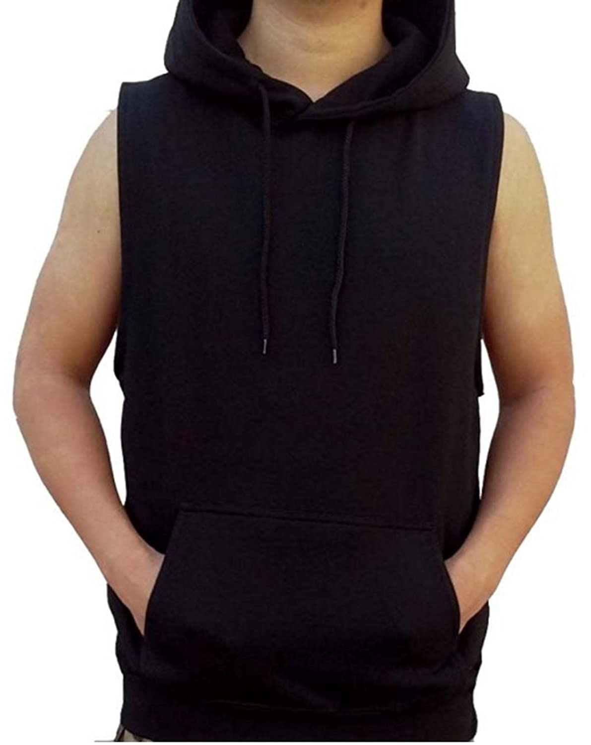 Mens Hooded Sweater Vest Her Sweater