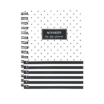 Cuaderno con anillas en espiral, tapa dura, organizador de ...