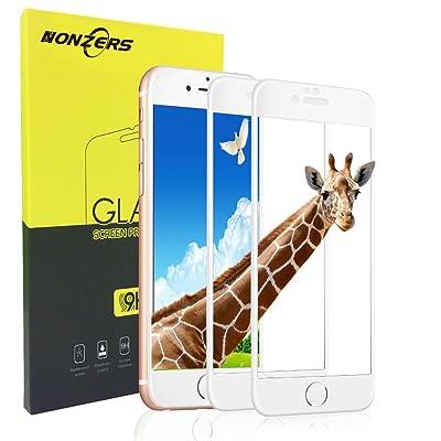 2-Unidades 2.5 D Protector de Cristal Templado para iPhone 7,Protector de Pantalla con 3D Tacto ,9H Dureza , Fácil de Instalación ,Vidrio Templado Duradero,Resistente a Arañaozos y Golpes(Blanco)