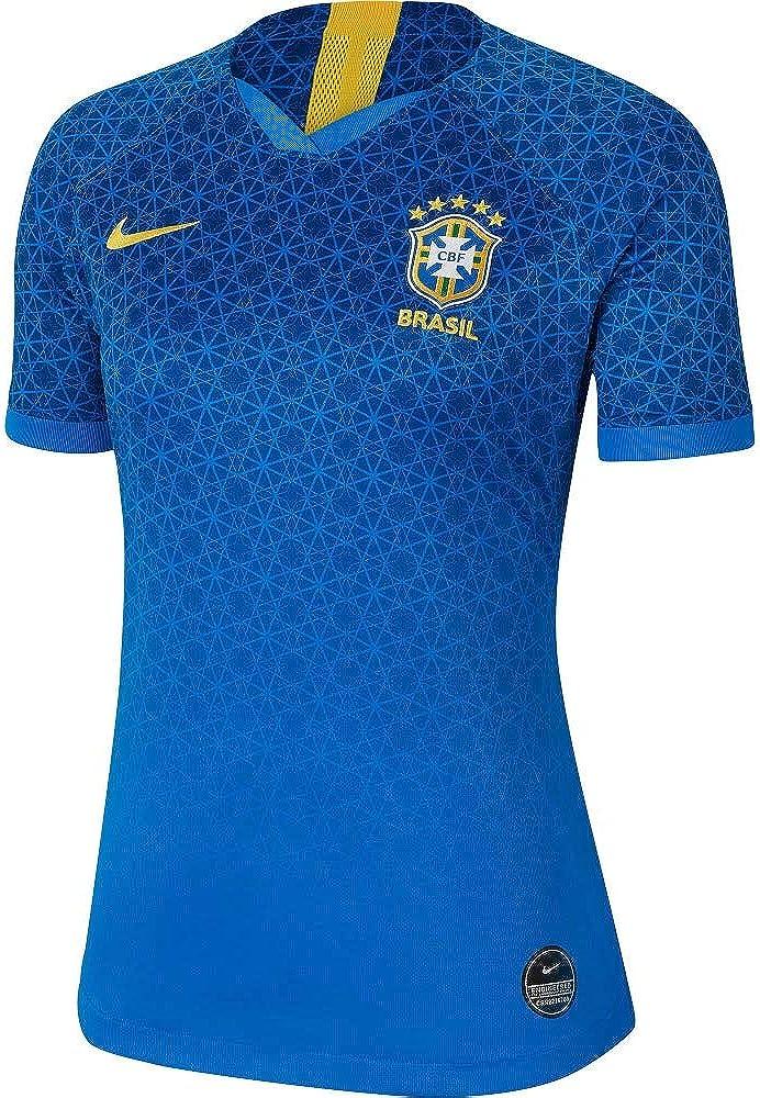 Nike 2019-2020 Brazil Away Womens Football Soccer T-Shirt Jersey