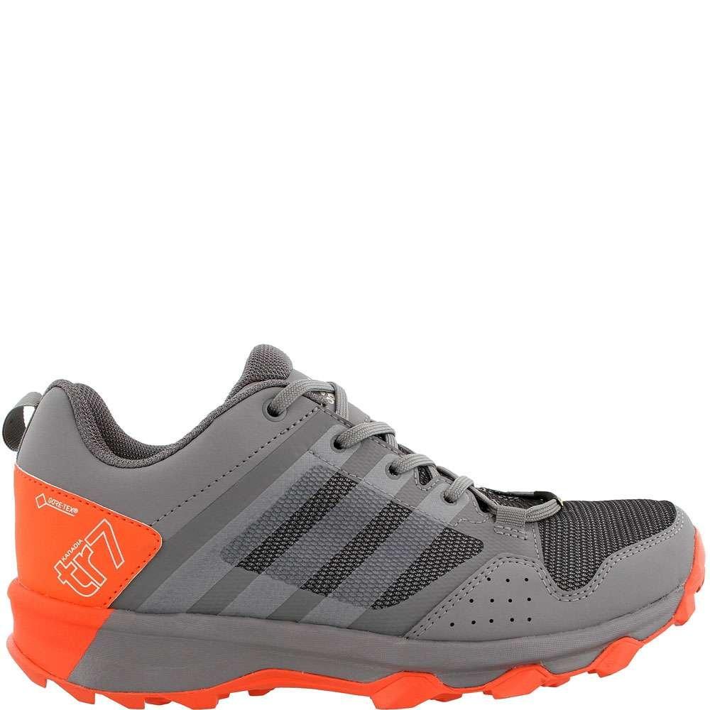 adidas outdoor Women's Kanadia 7 GTX W Trail Running Shoe, Grey Two/Chalk White/Easy Coral, 9.5 M US