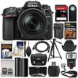 Nikon D7500 Wi-Fi 4K Digital SLR Camera 18-300mm VR DX Lens, Case & 32GB Card + Flash + Battery & Charger + Tripod + 3 Filters + Strap Kit