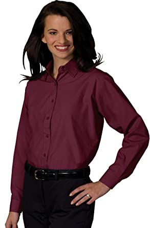 Edwards Garment Women's Long Sleeve Value Broadcloth Shirt at ...