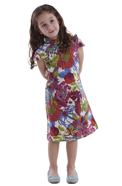 74010216f043f 100% Artisanale Qipao Fille Robe Cheongsam Chinoise Mode Enfant en Coton   106