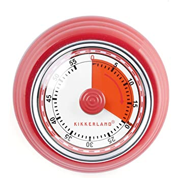Amazon Com Kikkerland Magnetic Kitchen Timer Red