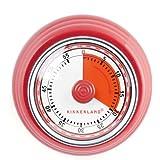 Kikkerland Essentials Magnetic Kitchen Timer, Red, One Size