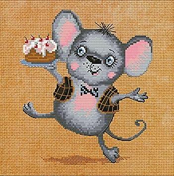 Stickpackung Alles Gute zum Geburtstag Maus Kreuzstich mit Garn und ...