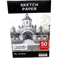 50/Sheets A4 Sketch Pad White Thick Papers 160gsm/90lb Artist Drawing Paper Acid Free, Ideal Sketchbook for Kids…