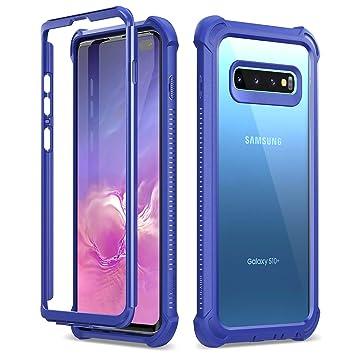 Dexnor Funda Compatible con Samsung Galaxy S10 Plus, Carcasa Ultra Hybrid, Transparente PC Back TPU Bumper Resistente Impactos Antigolpes Cover Galaxy ...