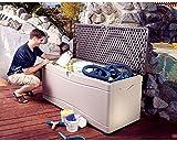 Lifetime Deluxe 130-gallon Deck Storage Box .#GH45843 3468-T34562FD559128