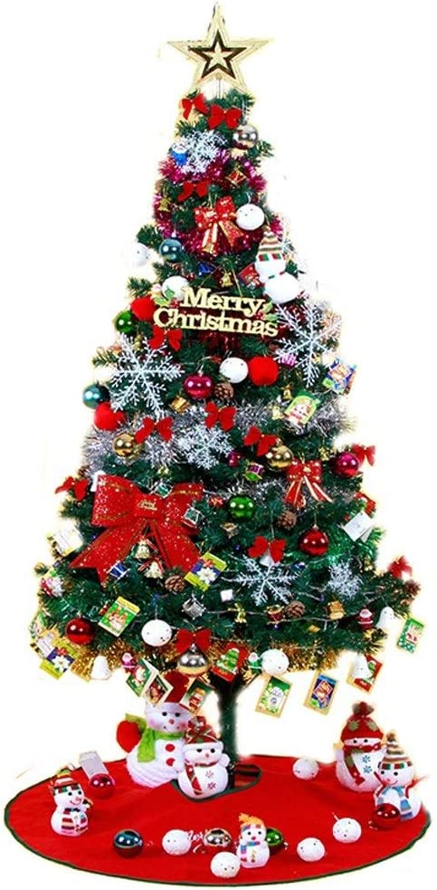 Pre-lighted Artificial Christmas Xmas Tree Metal Stand Traditional Decorations