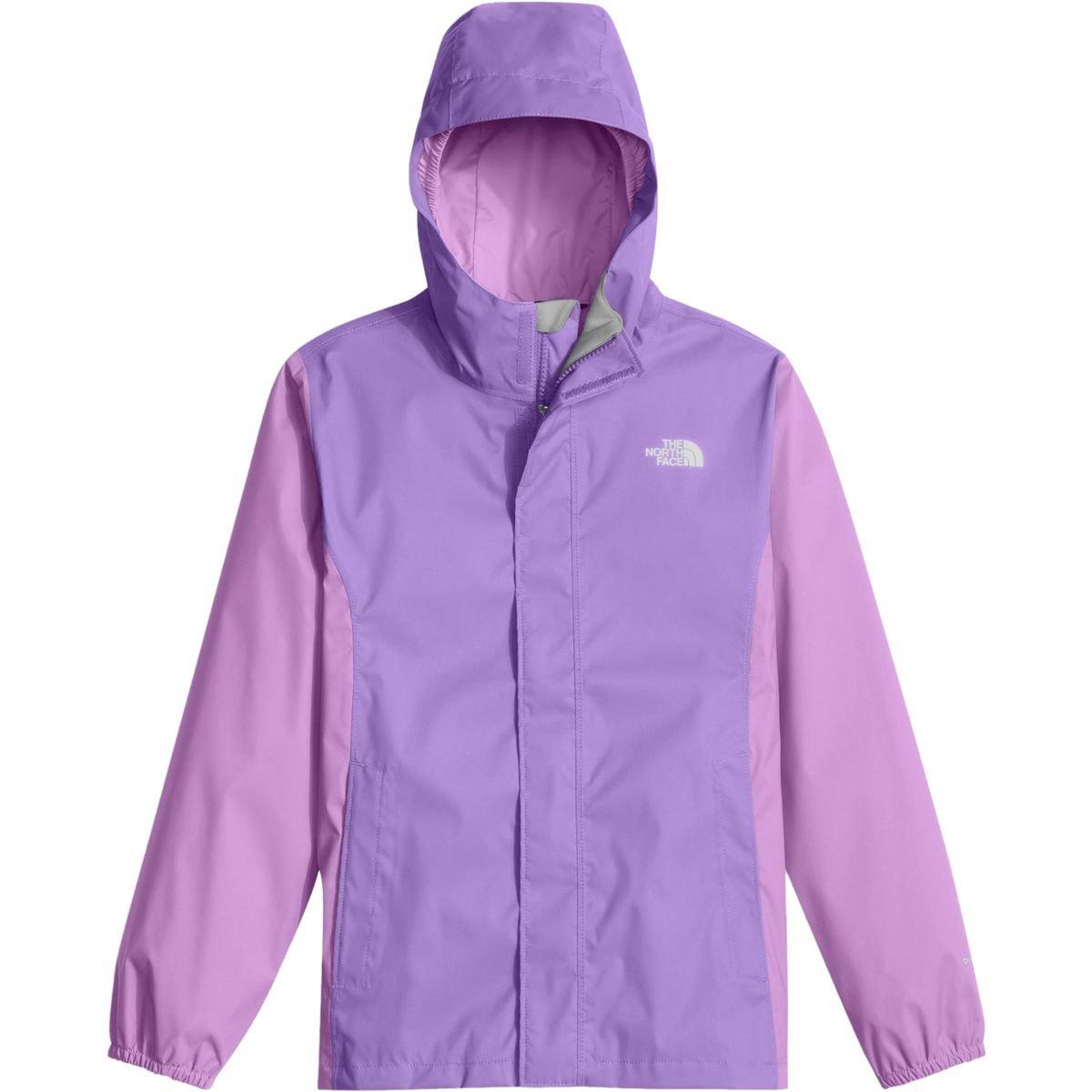 The North Face Girls' Resolve Reflective Jacket (Little Kids/Big Kids) (MD (10-12 Big Kids), Paisley Purple)