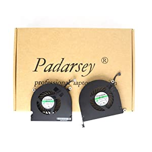 Padarsey New Laptop CPU Cooling Fan Left and Right Set Fit for MacBook Pro A1297 17-Inch Unibody 2009 2010 2011 DC 5V 2W Compatible with Part MG45070V1-Q010-S99 MG45070V1-Q021-S9A