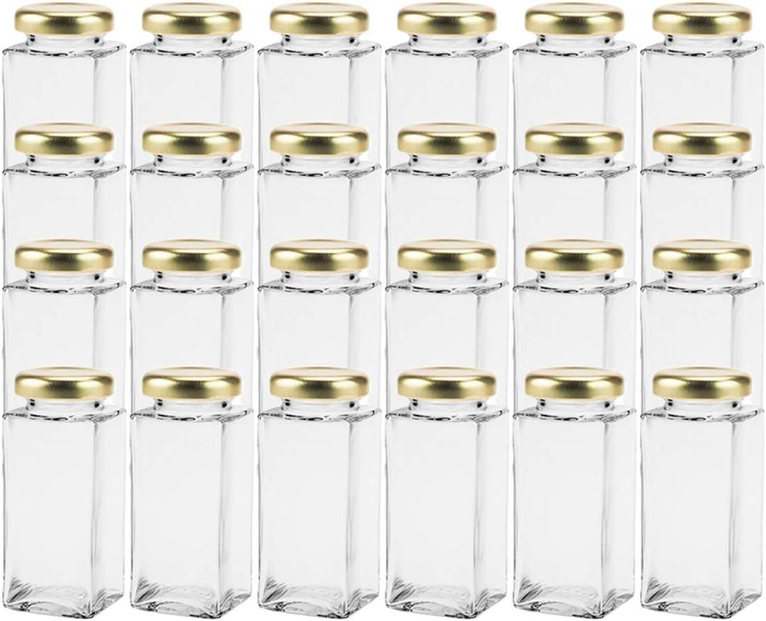 Cristal Caramelos Ideal para Sales Color Plateado pimientas Semillas de Calabaza Capacidad 50 ml hocz  Juego de 10 tarros de Especias con Cierre de Rosca Girasoles