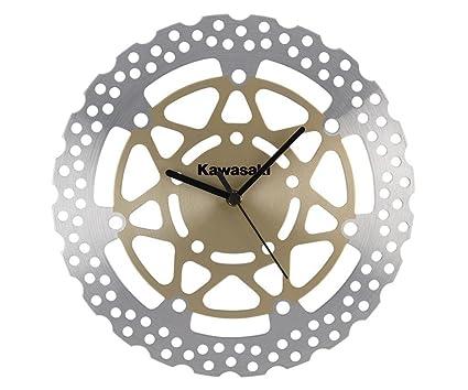 Kawasaki Reloj de pared WALL CLOCK. Freno Reloj. NUEVO. Plata Gold.