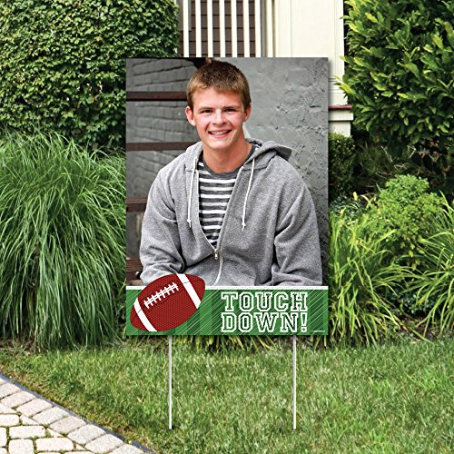 Big Dot of Happiness Custom End Zone - Football - Photo Yard Sign - Baby Shower or Birthday Party Decorations