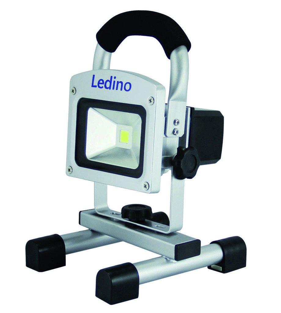 Ledino LED-Akkustrahler 10W Li-Ion Akku 2.2Ah dimm. silber