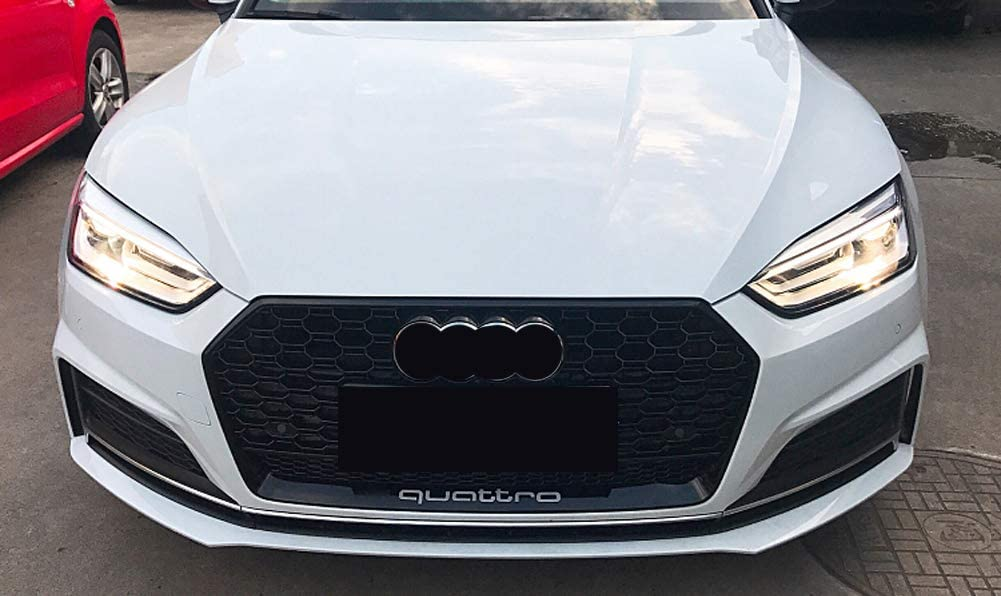 Xinshuo ABS Wabenart Mesh K/ühlergrill vorne f/ür RS5 Style A5 S5 2017-2019