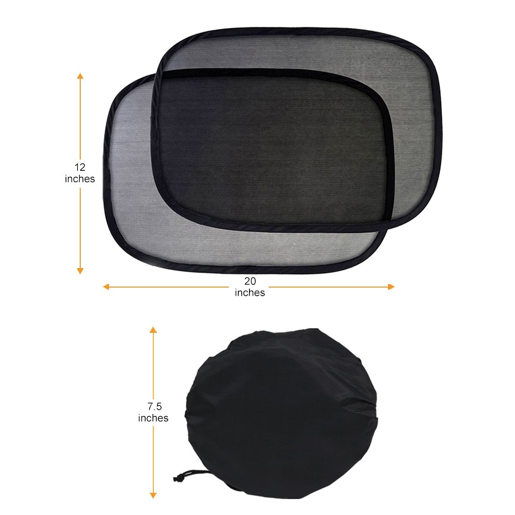Best for Baby Protection 2 Pack Aiooy Car Sun Shade Universal Baby Car Window Sunshades for Side and Rear Window Block Harmful UV Rays Sun Glare Heat