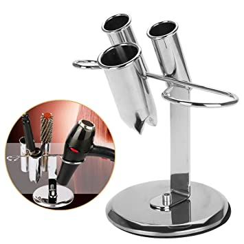 Stainless Steel Hair Dryer Hanger Salon Spiral Desk Mounted Dryer Holder Stable