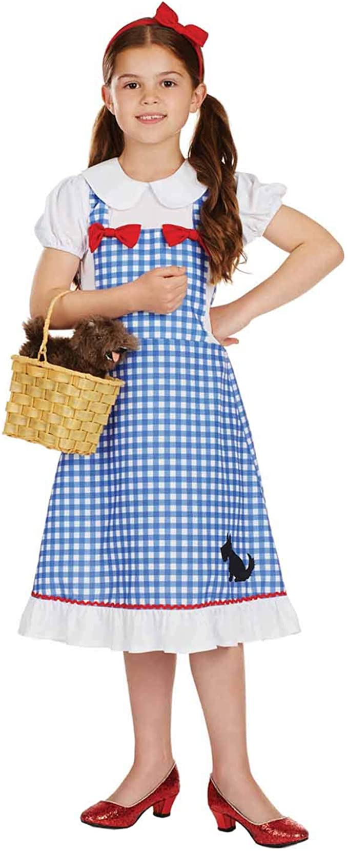 Girls Wizard of Oz Dorothy Costume Child Fancy Dress Outfit