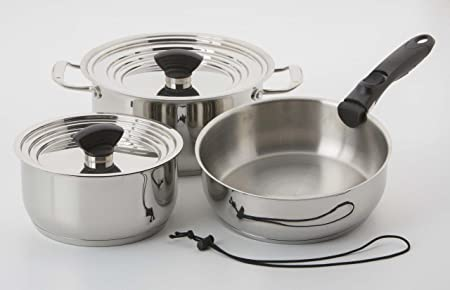Galleyware Nesting Stainless Steel 9-piece Induction Cookware Set